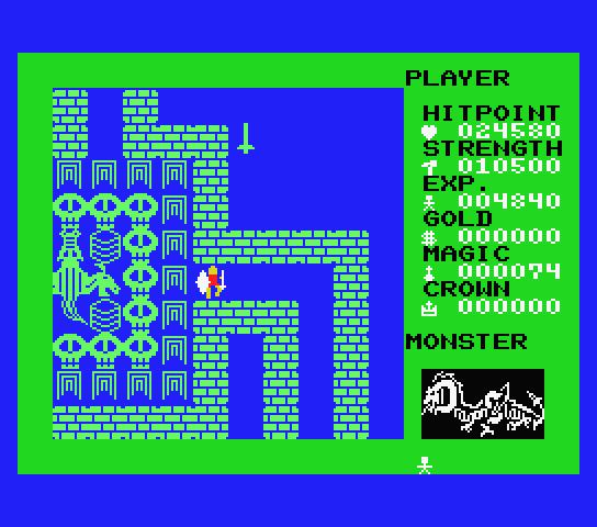 Dragon Slayer (1984)   Прохождение Dragon Slayer (1984