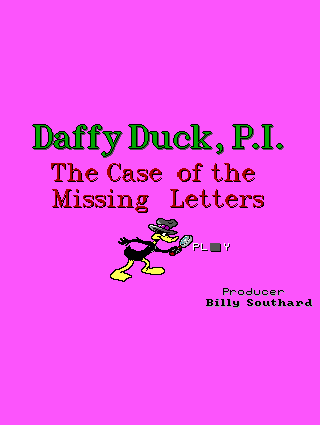 Daffy Duck, P.I.: The Case Of The Missing Letters