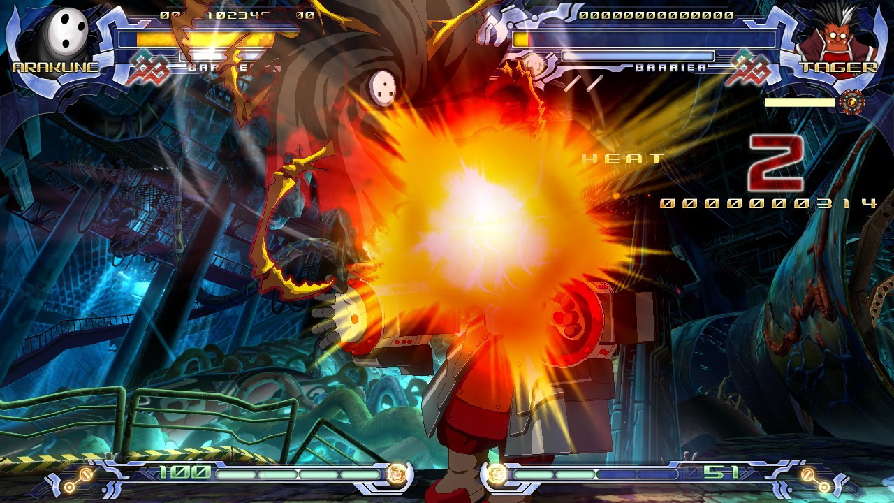 blazblue calamity trigger Blazblue: chrono phantasma is the latest offering in this combative fighting series developed by arc system works seven new characters join in the action.