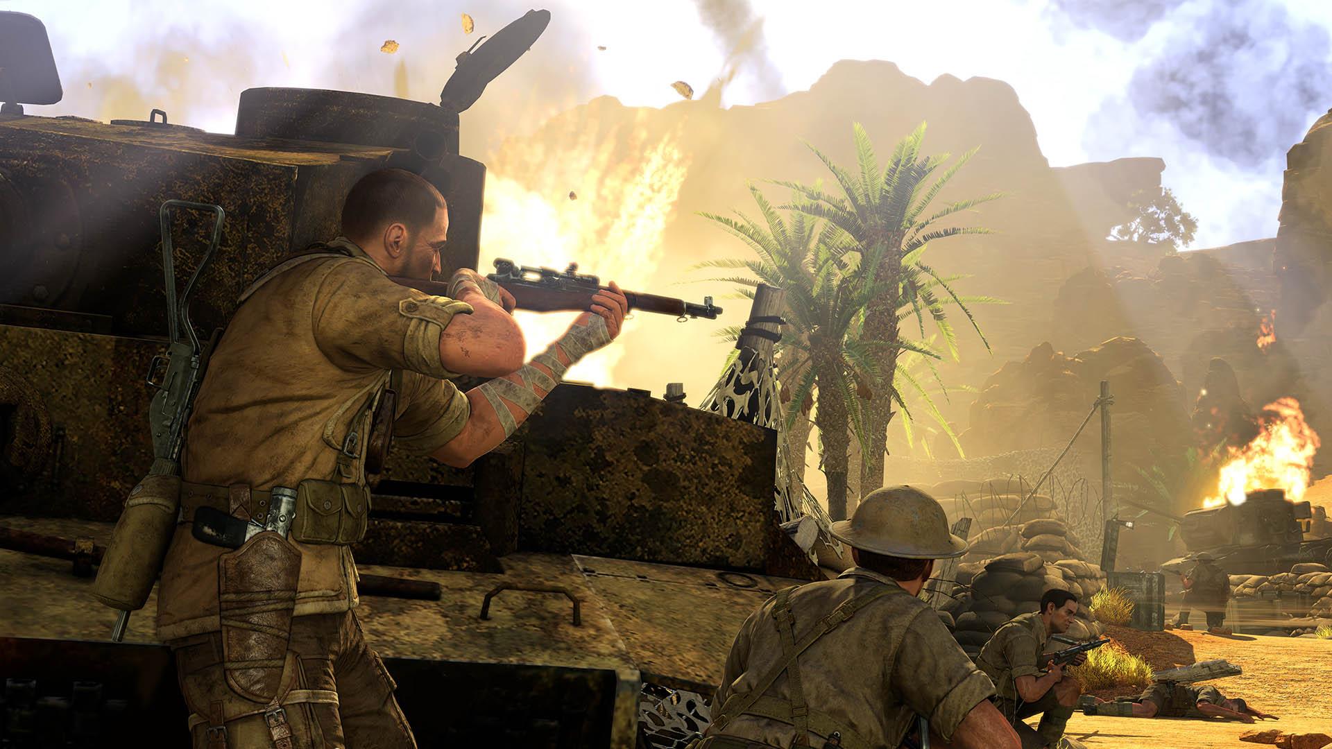 Sniper elite 3 оазис сива как сделать несчастный случай