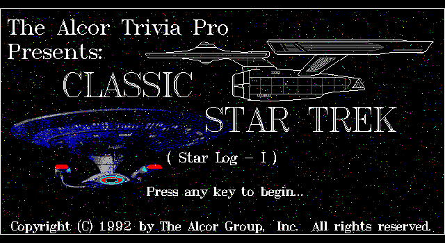 The Alcor Trivia Pro Classic Star Trek (Star-Log I)