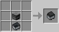 Вагонетка на угле Minecraft
