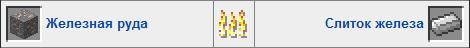 Железо в печке Minecraft