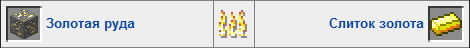 Золото в печке Minecraft
